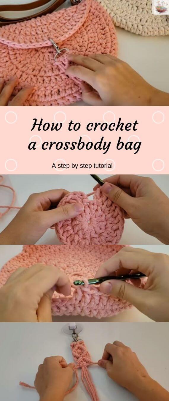 Como fazer crochê uma bolsa crossbody   – DIY