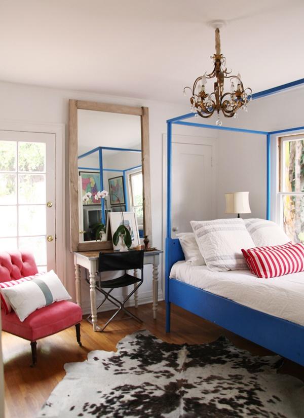 Blue bed room...aka the Harry Potter room