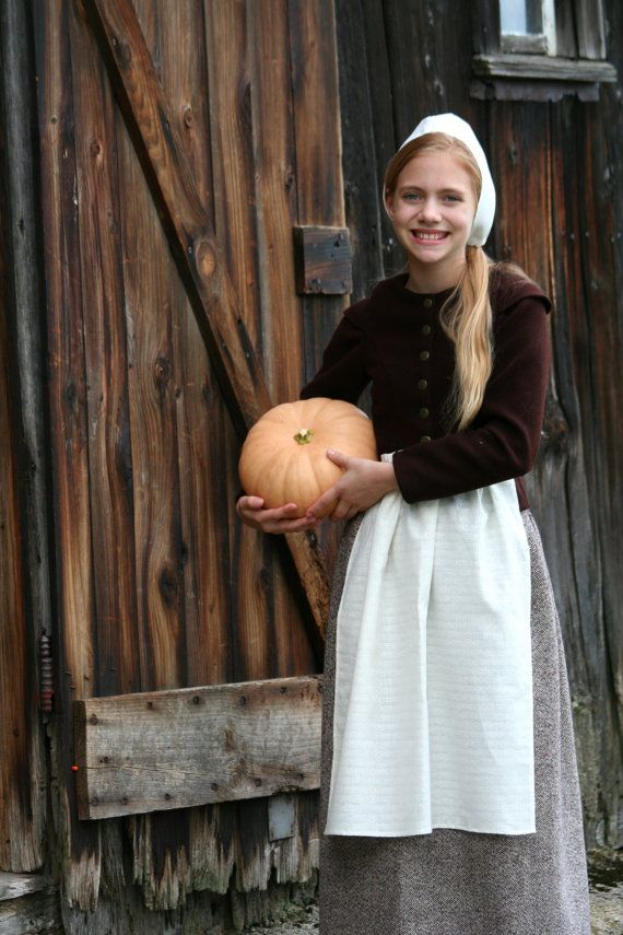 Pilgrim  Costume  Girl's Size 1214  Authentic by WonderfulLifeFarm, $110.00