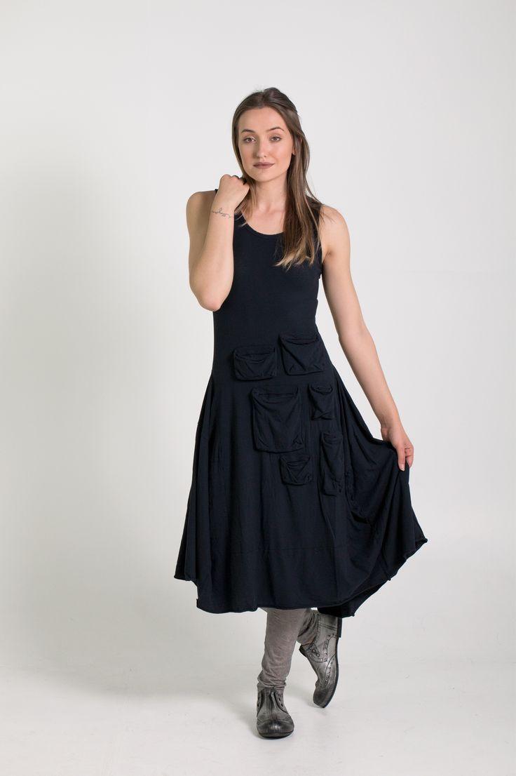 Rundholz Dip | Et Vous | Navy Dress
