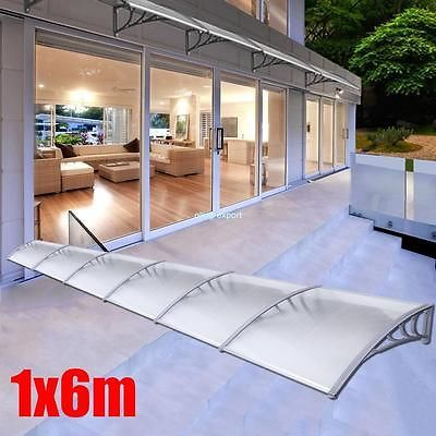 Outdoor-Garden-Canopy-Patio-Window-Awning-Sun-Shade-Rain-Shelter-Cover-1x6m-DIY