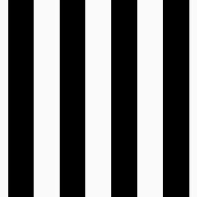 Black/White Medium Stripe Matte Satin Fabric