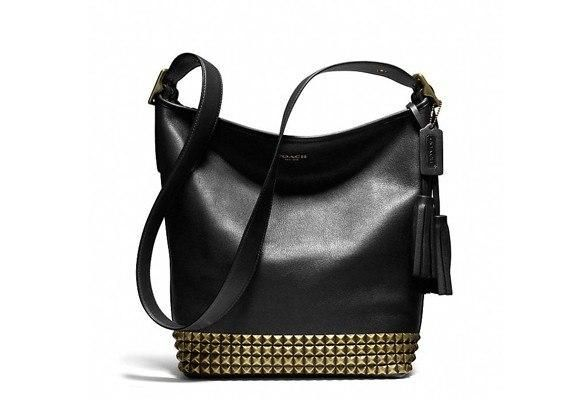 Black Coach Bag With Gold Studs Honey Hold My Pinterest Handbags Purses And