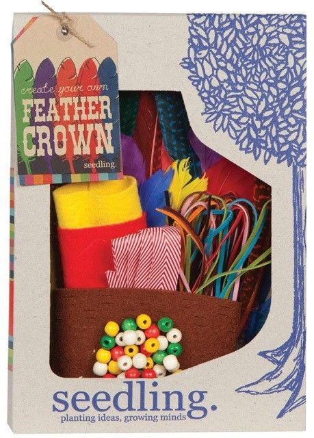 Seedling - Create your own Feather Crown #pintowin #entropywishlist I love this because I love the seedling products. It's lovely to have a present that requires sitting down, spending some quality time together & getting creative.