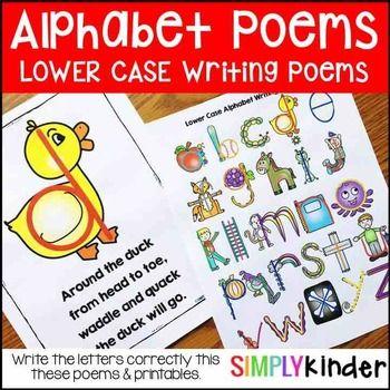 Alphabet   Alphabet PoemsLower Case Letter Writing PoemsAlphabet Poems, Alphabet Writing, Alphabet Activities, Alphabet PrintablesGet this product as part of a BUNDLE and SAVE! Alphabet Writing Poems UPPER
