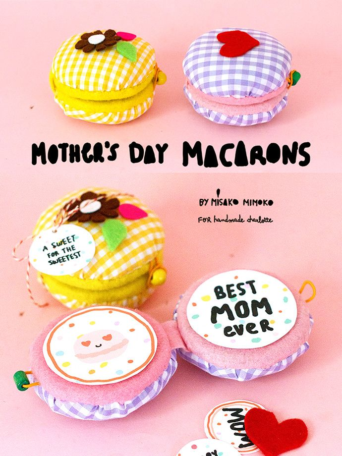 Sew these adorable mini macaron cards for Mother's Day this year!