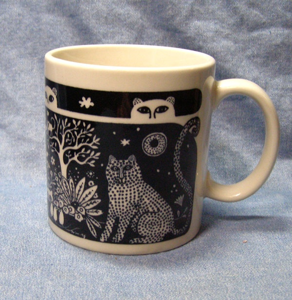Taylor and Ng Jungle Cats mug. It is SO HARD to find their mugs in KC!