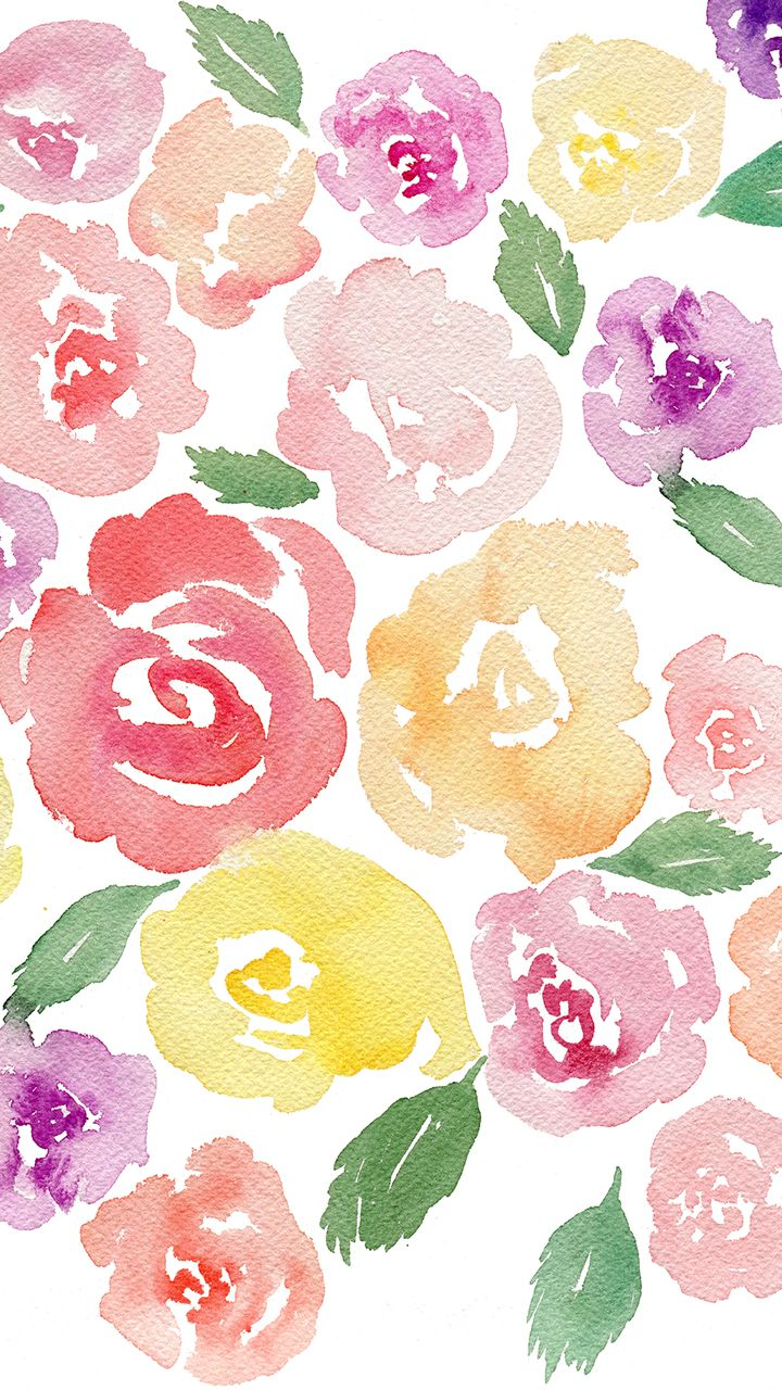 Iphone Free Watercolor Floral Desktop Wallpaper Fox Hazel Jpg 720