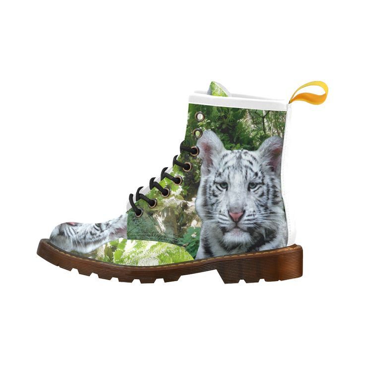 White Tiger Leather Martin Boots For Men #erikakaisersot #artsadd #boots