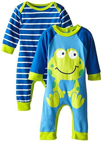Gerber Baby-Boys Newborn Frog 2 Pack Coverall, Frog, 6-9 Months