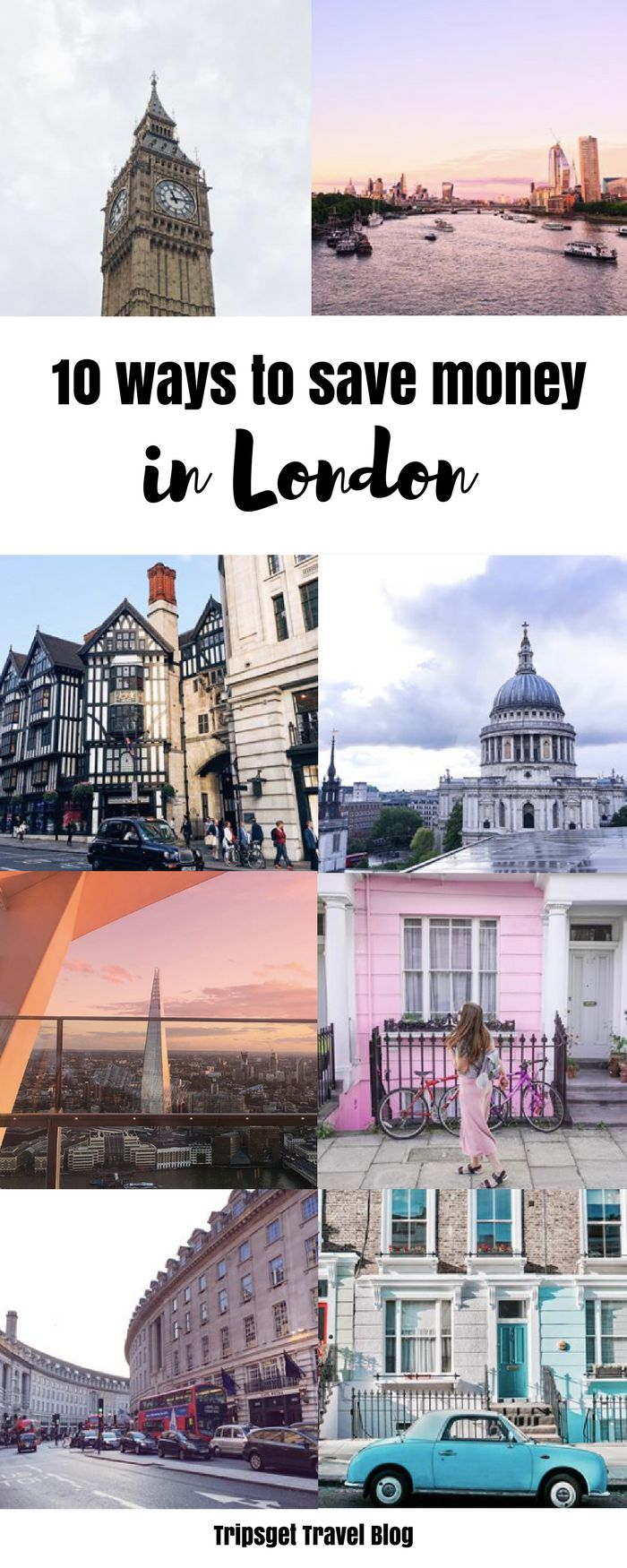 10 ways to save money in London: theatre, food, cinema, clothes, shopping, banks, going out, restaurants and more! Cheaper in London. How to survive in London #London
