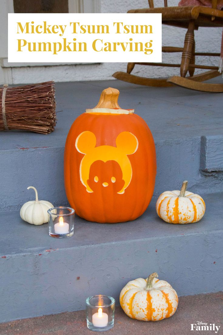 Just because it's Halloween season doesn't mean your decor has to be scary. Case in point: this adorable Mickey Tsum Tsum Pumpkin Carving. It's ear-ie how cute it actually is!