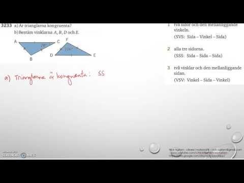 Matematik 5000 Ma 2b   Kapitel 3   Geometri   Kongruens   3233