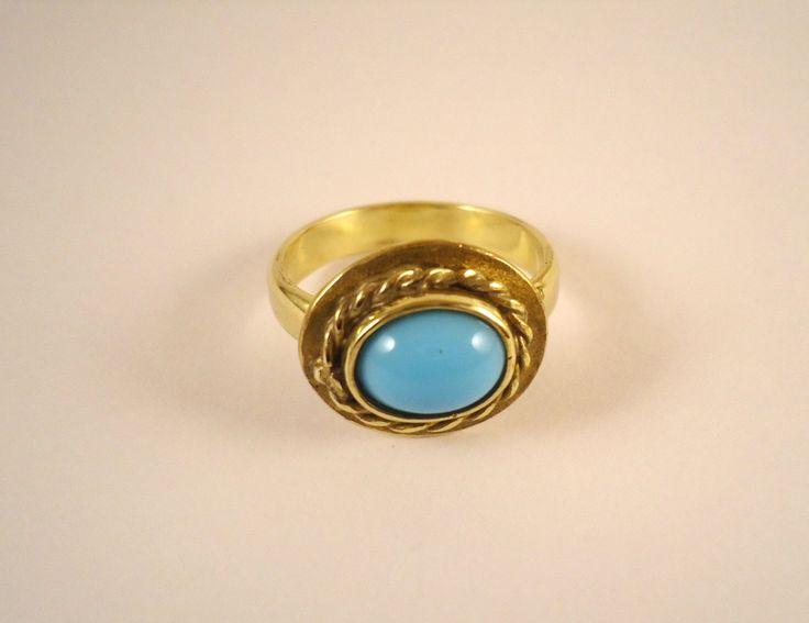 san valentino,anello uomo,regalo,pietra celeste,pietra blu,artigianato,gioielli ottone,anello storico,anello medievale,anello donna,regalo di Primordi su Etsy