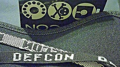 DEFCON 7 Human Badge 1999- DEF CON 7 Hacking Conference - THE BADGE w/ Lanyard