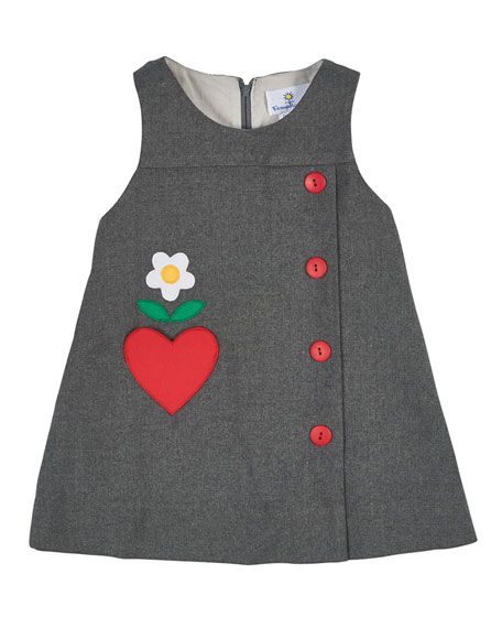 Sleeveless Flannel Shift Dress, Gray, Size 2-6X  Conoce todo sobre de los bebes en somosmamas.com.ar.