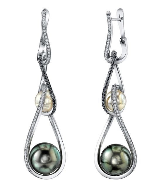 Rotating Pearl Earrings - Mark Schneider Design