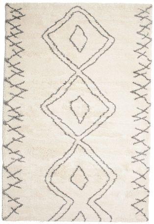 <!--Die Vorbilder dieser Teppiche werden von Berbern, den Ureinwohnern in Marokko geknüpft. Es sind bäuerliche, schwere Hochflorteppiche aus ungesponnener, ungefärbter beigefarbener oder brauner Schafwolle.