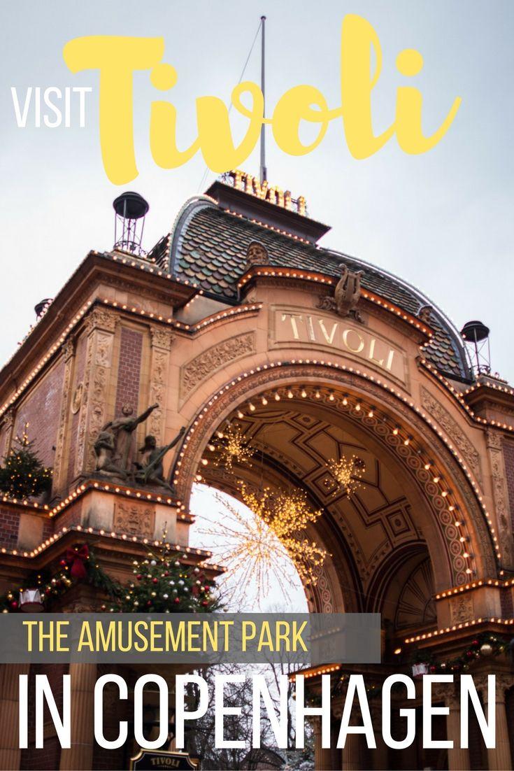 Tivoli Gardens The Amusement Park in Copenhagen, Denmark