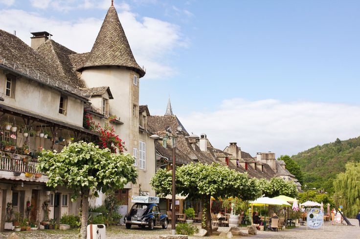 beautiful french village of argentat correze france