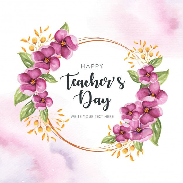 Rama Szczesliwych Nauczycieli Happy Teachers Day Card Teachers Day Card Design Teachers Day Card