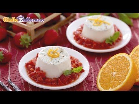 PANNA COTTA SENZA COLLA DI PESCE (gelatin free panna cotta), l'ideale per un #dessert di facile realizzazione e di sicuro successo, dolce e cremoso, senza l'uso di gelatina. Qui la #video #ricetta: http://ricette.giallozafferano.it/Panna-cotta-senza-colla-di-pesce.html #GialloZafferano #panna #fragola #merenda #dolce