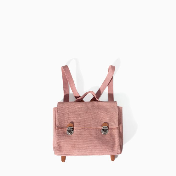 FABRIC RUCKSACK WITH BUCKLES from Zara for little girls