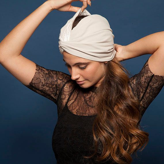 Cream Twist Turban Headband or Hat Full Turban Smart Headband Dual Use Women Hair Accessories Gifts For Her by KrushONit on Etsy