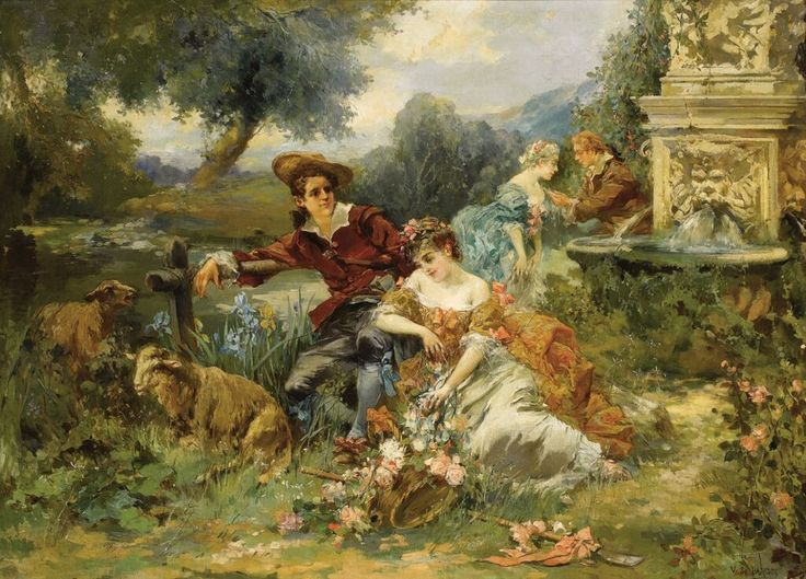 Country Party. By Vicente García de Paredes (1845-1903), private collection