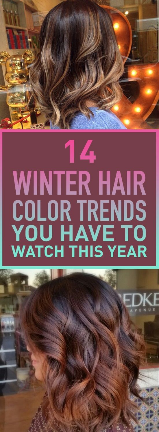 It's that cold time of the year again and you're thinking about changing your hair's color to something more cozy and suites the season. Here are some of the best colors for winter this year to inspire your next hair color.