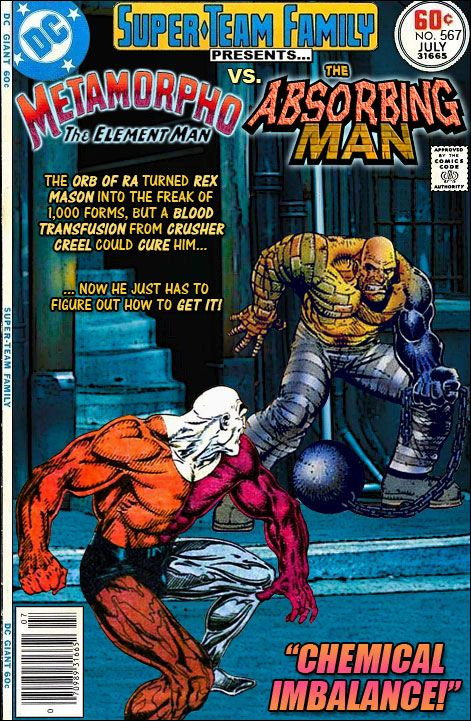 Super-Team Family: The Lost Issues!: Metamorpho Vs. The Absorbing Man