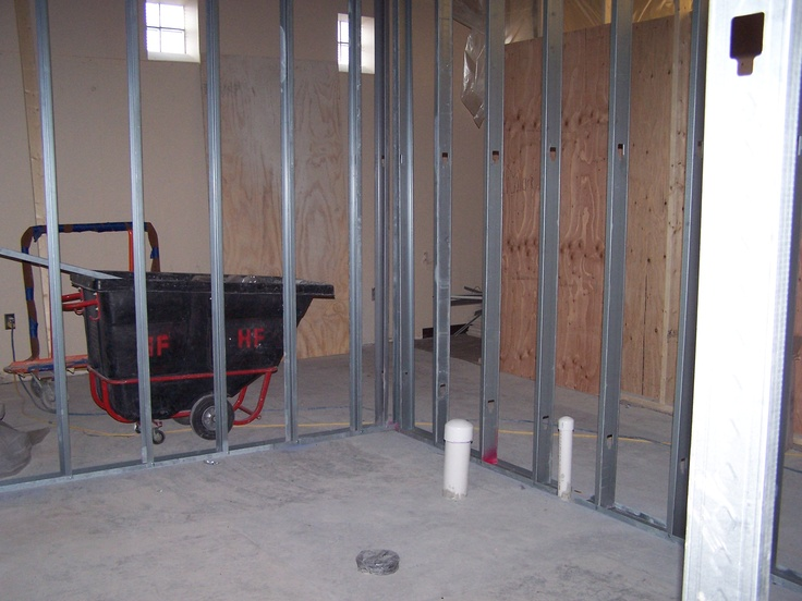 april 24 behind the temporary wall new restrooms plumbed and framed