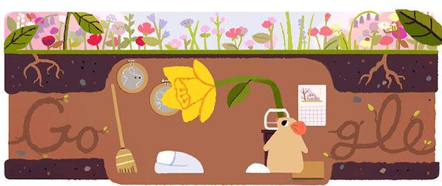 Spring Equinox 2017 Logos From Google & Bing