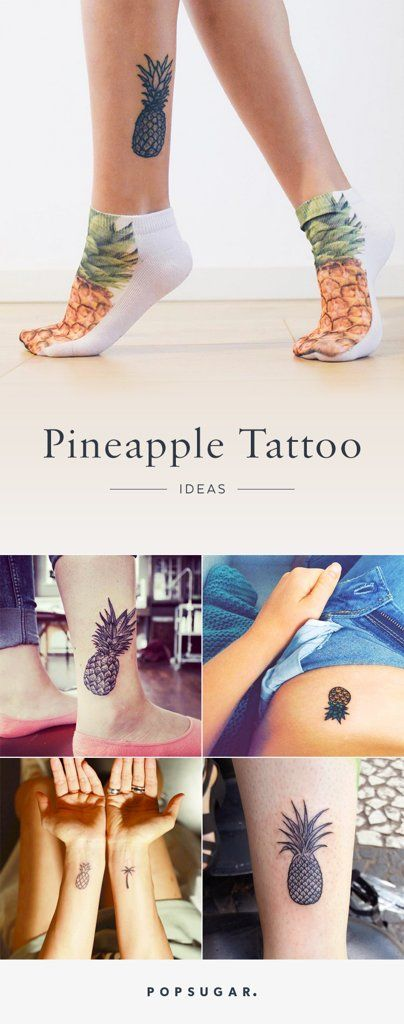 To this day, people are still fond of pineapples' exotic appearance, and we think they make for excellent, eye-catching tattoos. The designs come with an added bonus: one glance at your art and you'll be mentally transported to a beach vacation.