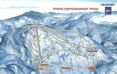 Ski resort Abzakovo, near Magnitogorsk (Russia)