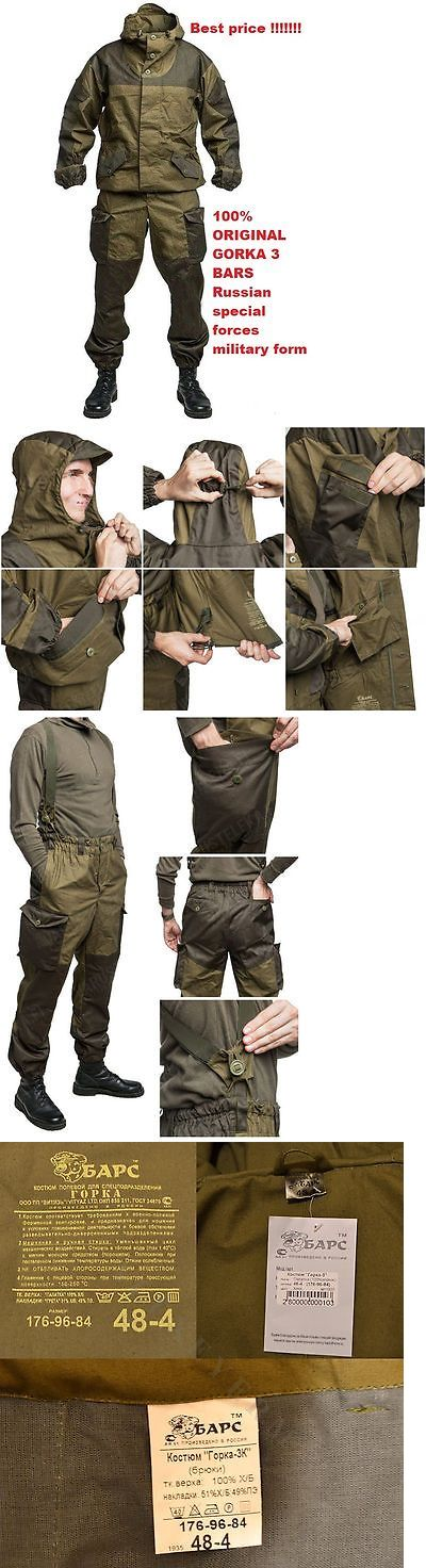 Jacket and Pants Sets 179981: Gorka 3 Bars Original Russian Army Military Special Uniform Camo Suit Hunting BUY IT NOW ONLY: $60.0