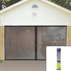 buy single garage screen door from at bed bath u0026 beyond keep pesky mosquitoes and flies out of your garage and let the fresh air in with this screen