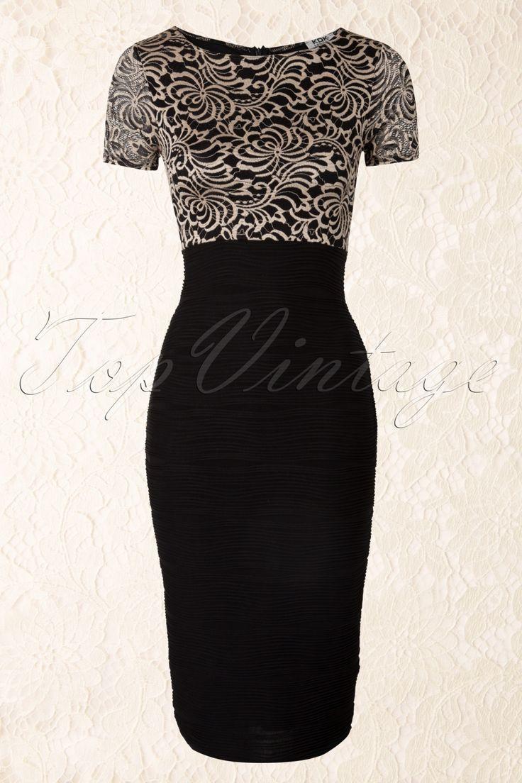 Vintage Chic - 50s Du Bois Pencil Dress in Black