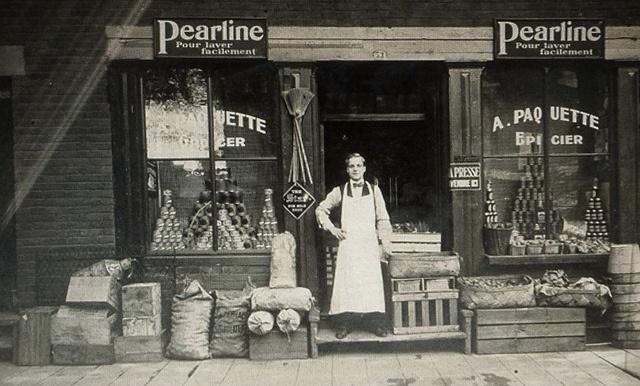 Montréal, vers 1910. Le 53, rue Rose-de-Lima.