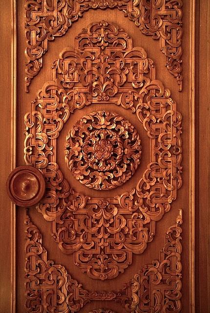 Gorgeous hand carved door