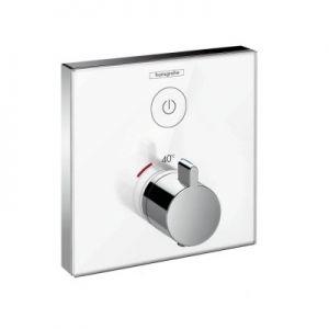Hansgrohe ShowerSelect Glass bateria termostatyczna biały/chrom