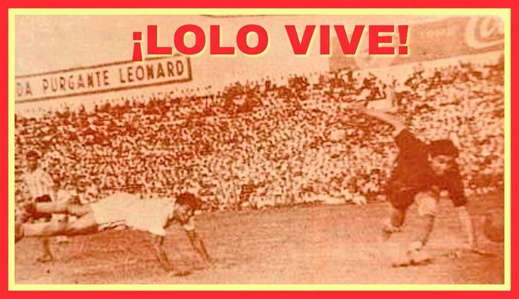 """(24.12.44) """"LOLO"""" aquella tarde anotó 5 goles al Racing Club con el arquero Rodríguez, de palomita como en la foto, de taquito, de shot, etc. """"LOLO"""" es ejemplo de GARRA y DIGNIDAD. Nos enseñó que es preferible morir de pie que vivir eternamente de rodillas..."""
