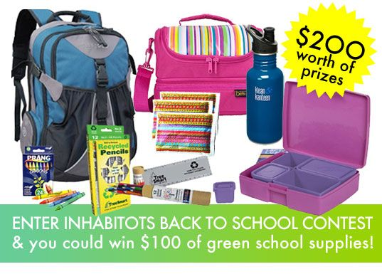 Win $100 Worth of School Supplies from The Ultimate Green Store in Inhabitot's Back to School Contest! | Inhabitots