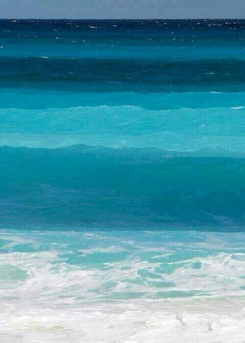 Diversas tonalidades de azul...