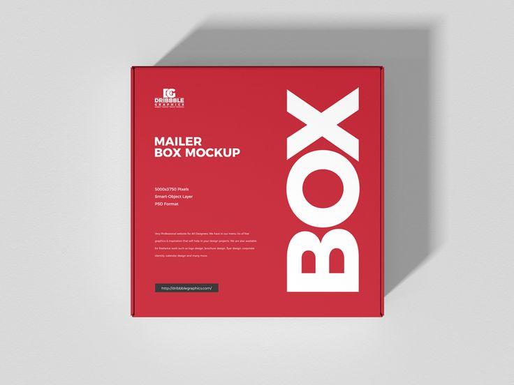 Download Free Mailer Box Mockup Dribbble Graphics Box Mockup Mailer Box Packaging Mockup