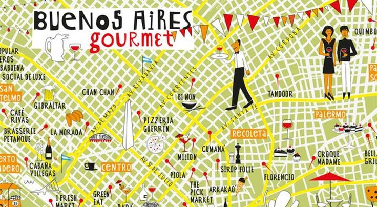 A Food Map of Restaurants in Buenos Aires