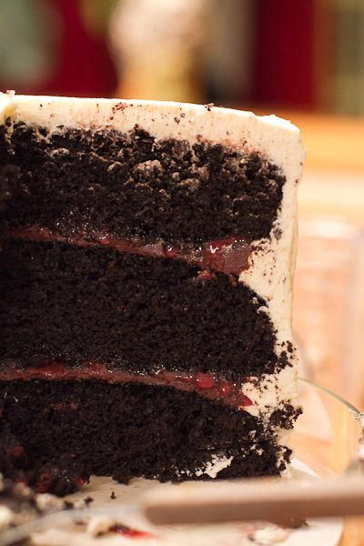 Chocolate raspberry Forest Cake... DELISH! http://chocolateandcarrots.com/2011/03/chocolate-raspberry-forest-cake-birthday