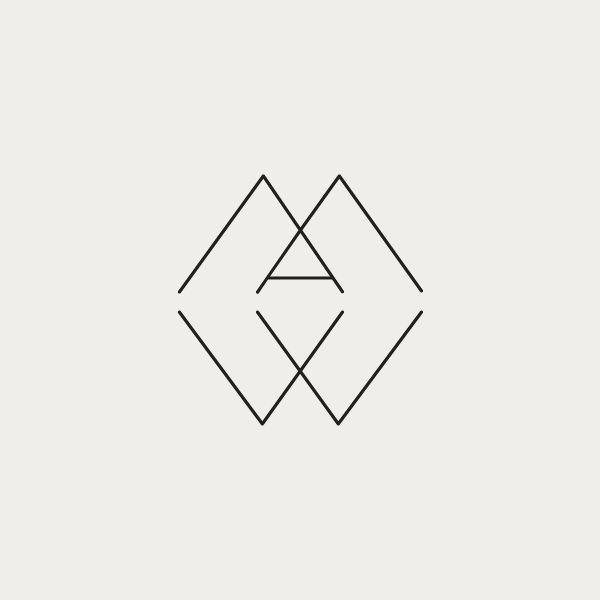 Monogram for Alyssa M. Wieske's interior firm Wieske Design. Created by Richard Baird