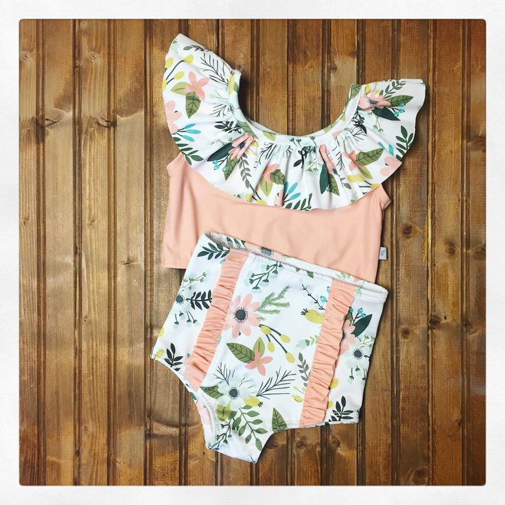 A personal favorite from my Etsy shop https://www.etsy.com/listing/512762957/high-waisted-baby-toddler-girls-swimsuit