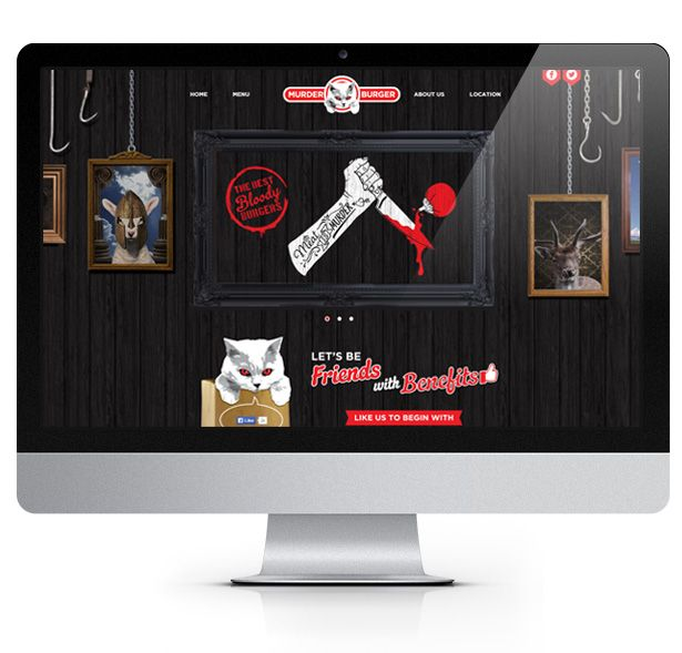 Murder Burger stands for a promise of real fresh meat, ingredients, seasonings, homemade sauces & buns that help deliver the best burgers you have ever tasted.  Murder Burger required a website design that reflects their iconic personality. Little Giant created a unique website design, utilizing a one page layout and interactive animation.